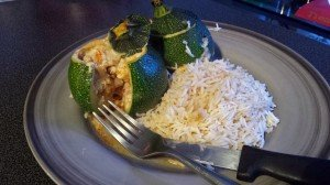 Courgettes farcies - dinde et fromage