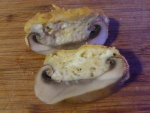 Champignons farcis au fromage
