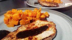 Patates douces rôties au romarin